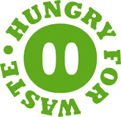 Ecohog's green hungry for waste logo
