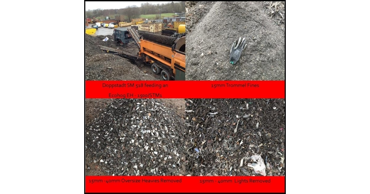 Ecohog Windshifter and CJR Services reduce landfill costs in trommel fines clean up